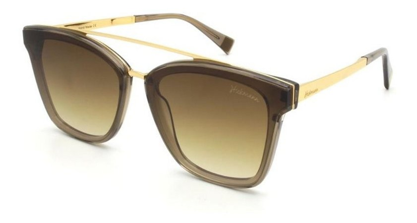 Óculos De Sol Hickmann Hi9081 Feminino T02 Marrom Degrade