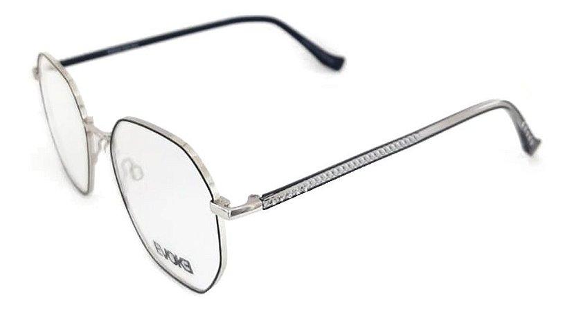 Óculos Armação Evoke For You Dx95 09b Metal Preto Dourado