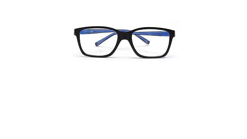 Óculos Armação Silmo Kids SK-07 C5 Preto com Azul Menino