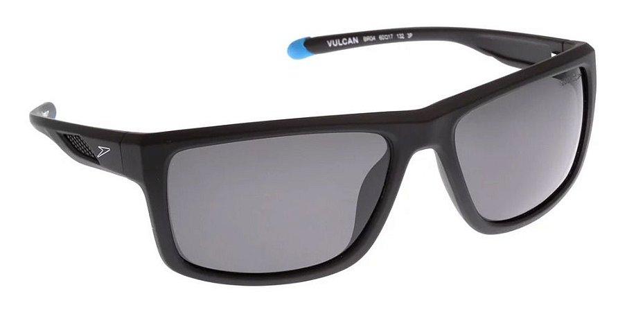 Óculos De Sol Speedo Vulcan Br04 Preto Fosco Polarizado