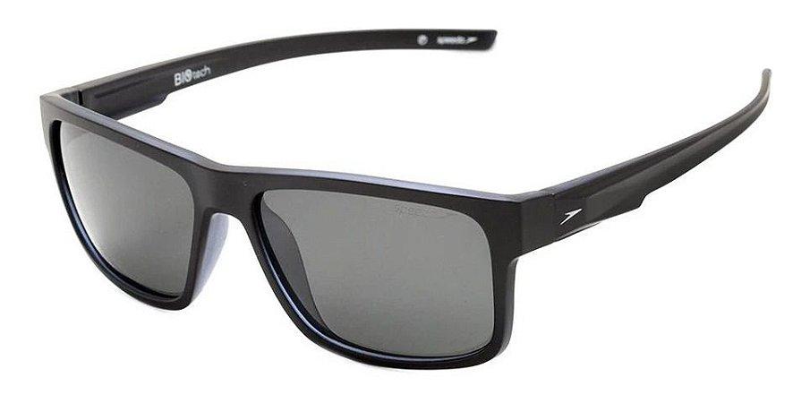 Óculos De Sol Speedo Rino C01 Preto Lente Cinza Polarizado