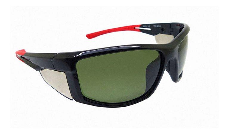 Óculos De Sol Speedo Pro5 A01 Preto Com Vermelho Polarizado