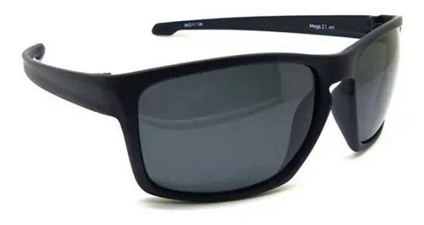 Óculos De Sol Speedo Mega2 A01 Preto Fosco Polarizado