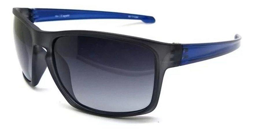 Óculos De Sol Speedo Mega 2 H01 Cinza Fosco Haste Azul Polar