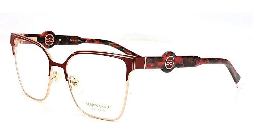 Óculos Armação Sabrina Sato Ss675  C1 Gatinho Bordo