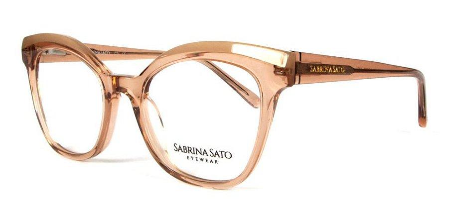 Óculos Armação Sabrina Sato Ss164 C3 Translucido Bege Claro