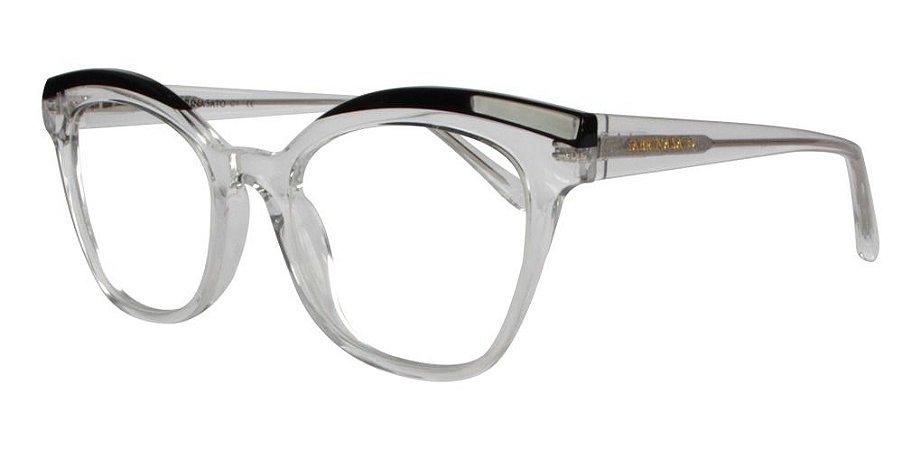 Óculos Armação Sabrina Sato Redondo Translucido Ss164 C1