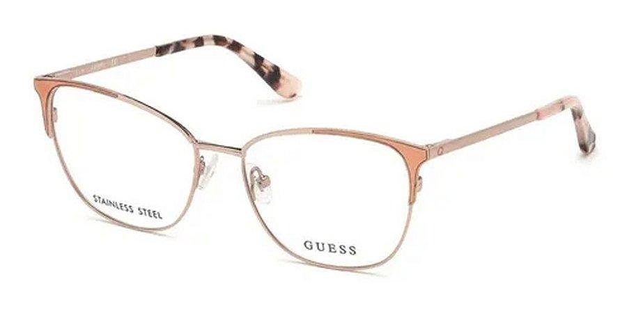 Óculos Armação Guess Gu2705 Feminino Metal Dourado  074