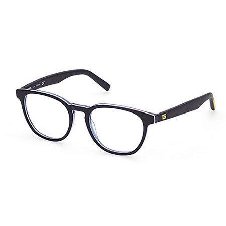 Óculos Armação Guess GU50033 090 Acetato Azul Masculino