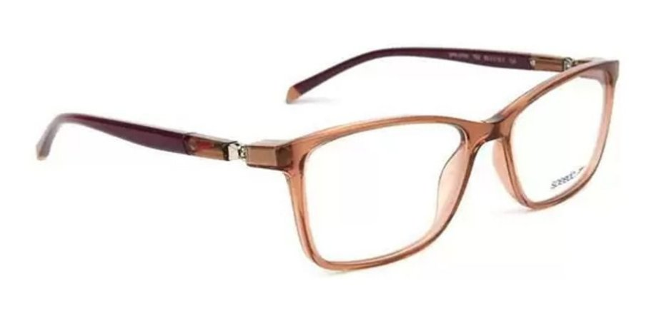 Óculos Armação Speedo Sp6107wi T02 Marrom Translucido