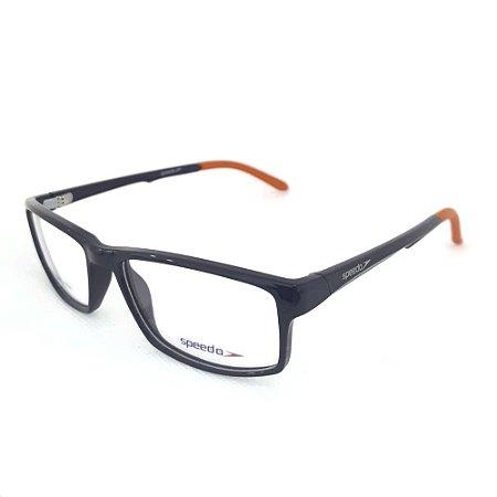 Óculos Armações Speedo SP7049I A03 Preto Brilho Laranja