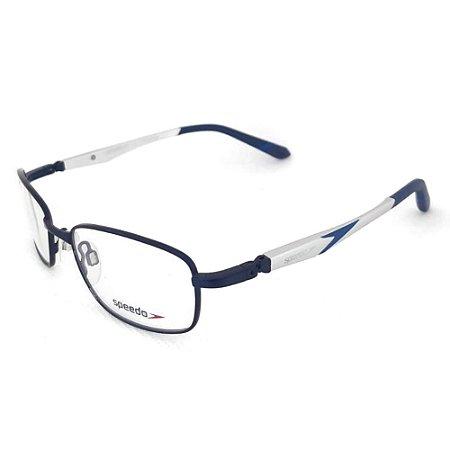 Óculos Armação Speedo SP1335 06A Aluminium Azul Haste 360