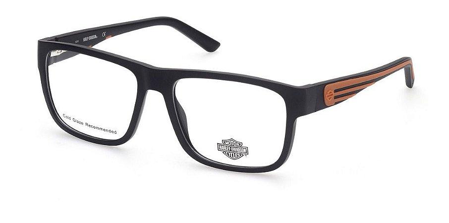 Óculos Armação Harley-davidson Hd0853 002 Preto Fosco