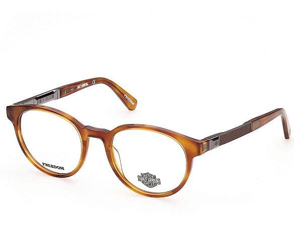 Óculos Armação Harley-davidson Hd9015 044 Caramelo Acetato
