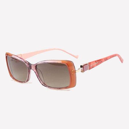 Óculos De Sol Ana Hickmann Ah9171 K01 Rosa Lente Verde G15