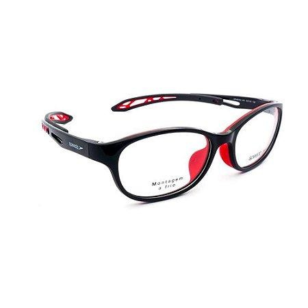 Óculos Armação Speedo SPK4010U H01 Preto com Vermelho