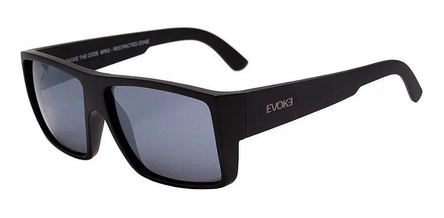 Óculos De Sol Evoke Br02 The Code  Preto Lente Cinza Flash