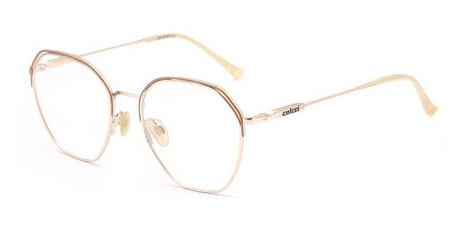 Óculos De Grau Colcci C6138b37 Dourado 53