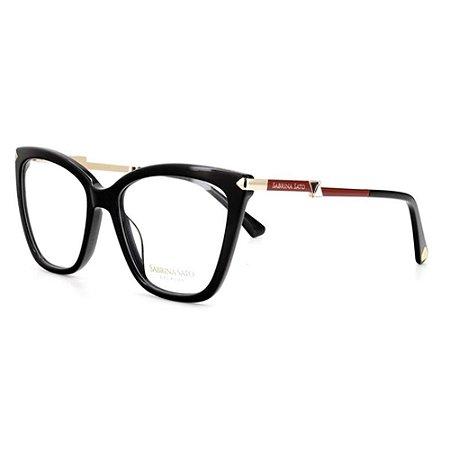 Óculos Armação Sabrina Sato SSK6005 C1 Acetato Preto