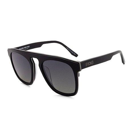 Óculos Sol Evoke For You DS26 A01P Preto Brilho Masculino