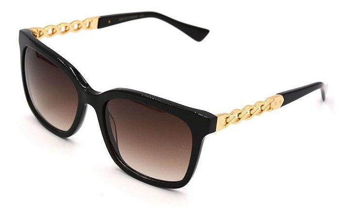 Óculos Armação Ana Hickmann Ah9227 A02 Preto  Feminino
