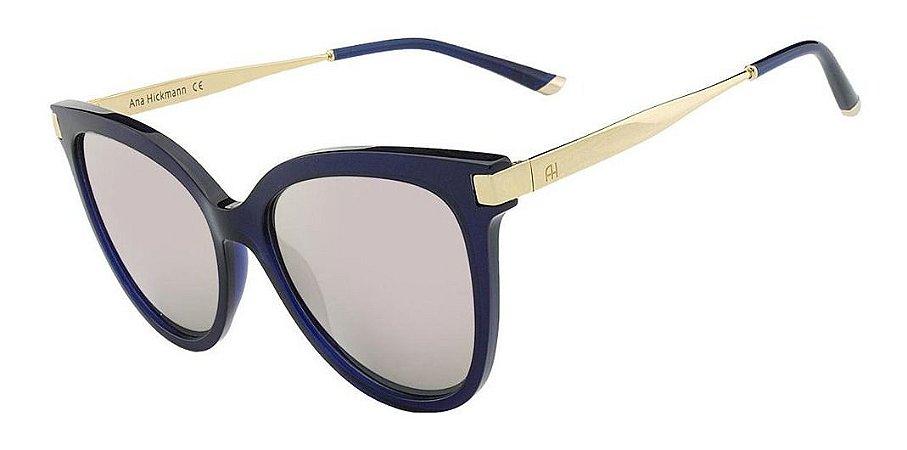Óculos Solar Ana Hickmann Ah9238 T02 Azul  Acetato Feminino