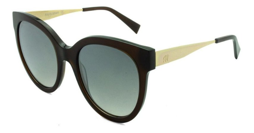 Óculos Solar Ana Hickmann Ah9259 T01 Marrom Trans/feminino