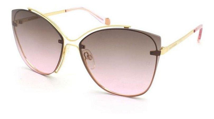 Óculos De Sol Ana Hickmann Ah3175 04d Dourado  Lente Degrade