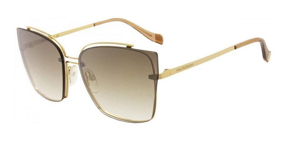 Óculos De Sol Ana Hickmann Ah3176 04b Dourado Dourado