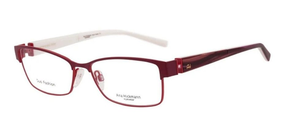 Óculos Armação Ana Hickmann Ah1290 07a Vermelho  Feminino