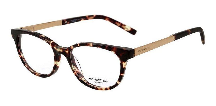 Óculos Armação Ana Hickmann Ah6236 G21 Marrom  Tartaruga