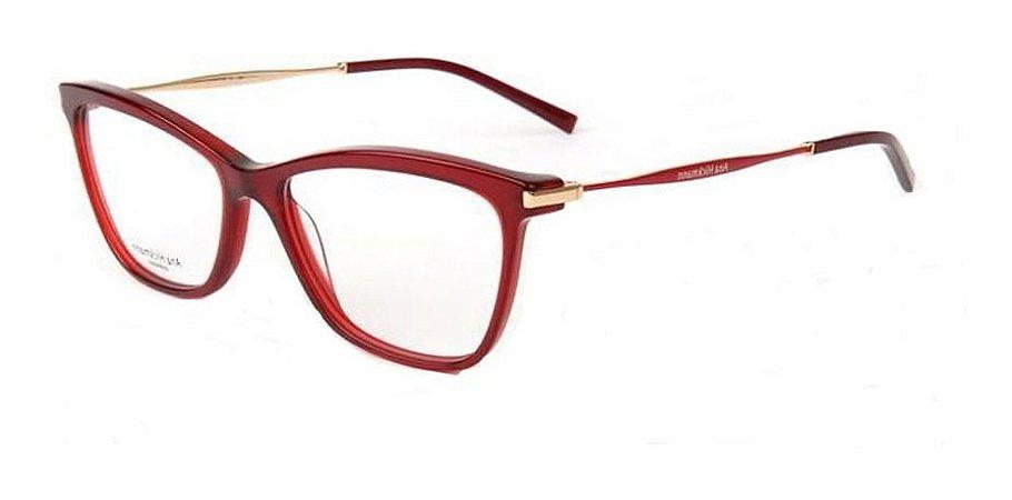 Óculos Armação Ana Hickmann Ah6254 H01 Vermelho  Feminino