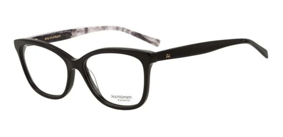 Óculos Armação Ah6257 A01 Preto Acetato  Feminino