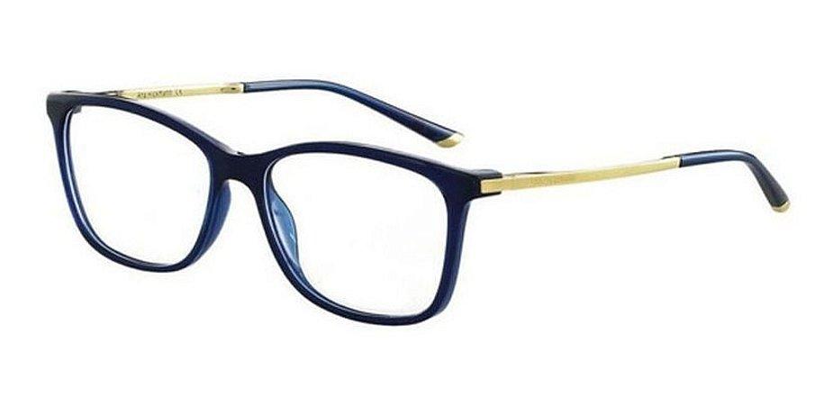 Óculos Armação Ana Hickmann Ah6264 T02 Azul  Feminino