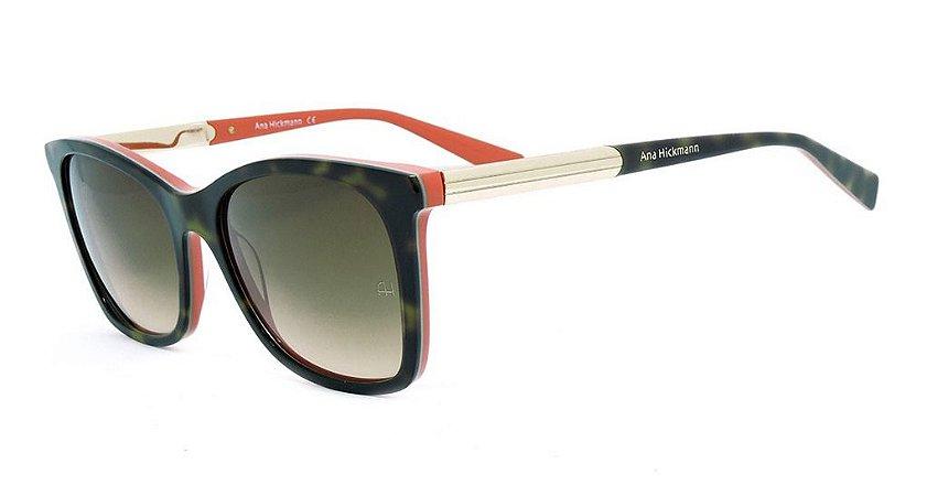 Óculos De Sol Ana Hickmann Ah9225 Feminino H01 Demi  Degrade