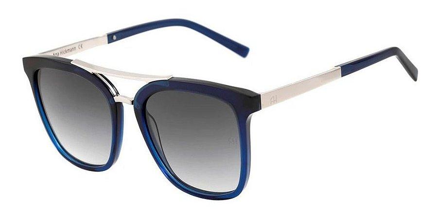Óculos De Sol Ana Hickmann Ah9233 C01 Azul Lente  Degrade