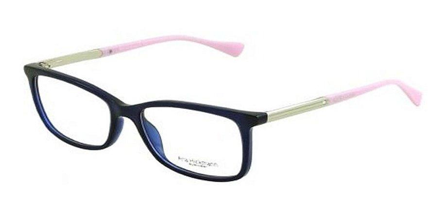 Óculos Armação Ana Hickmann Ah6266 T06 Azul  Feminino