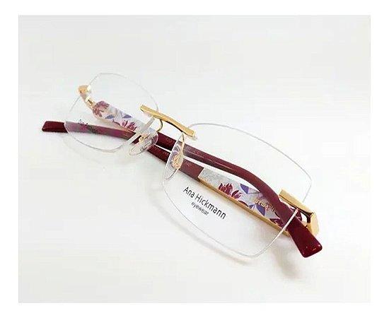 Óculos Armação Ana Hickmann Ah1317 04c Marrom  Feminino
