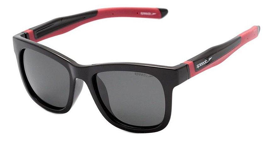 Óculos De Sol Speedo Drible A01 Preto Polarizado  Infantil