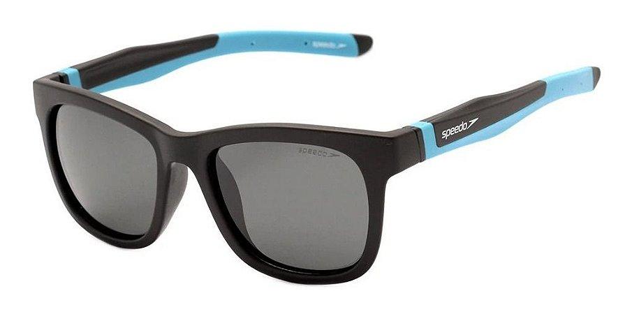 Óculos De Sol Infantil Speedo Drible Preto Detalhe  Azul A02