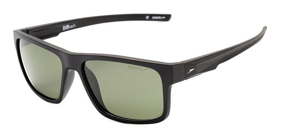 Óculos De Sol Speedo Rino A01 Preto Lente Verde G15 Polariz