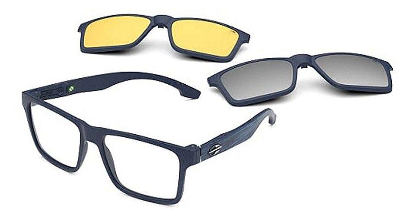 Óculos Armação Mormaii Swap Duo M6098kch56 Azul Clip-on