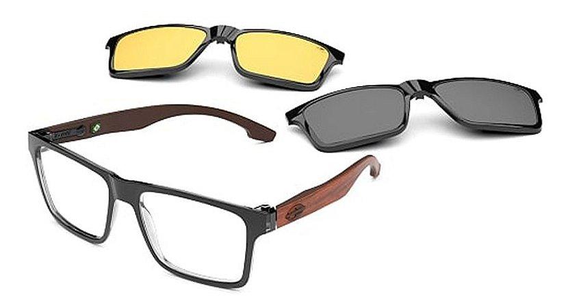 Óculos Armação Mormaii Ng Swap Duo M6098ahs56 Preto Madeira