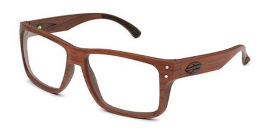 Óculos Armação Mormaii Mumbai M6087 J47 57 Marrom Amadeirado