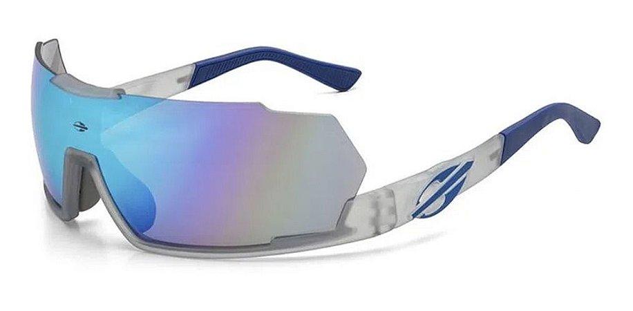Óculos De Sol Mormaii Sport Predator Unissex Azul Espelhado