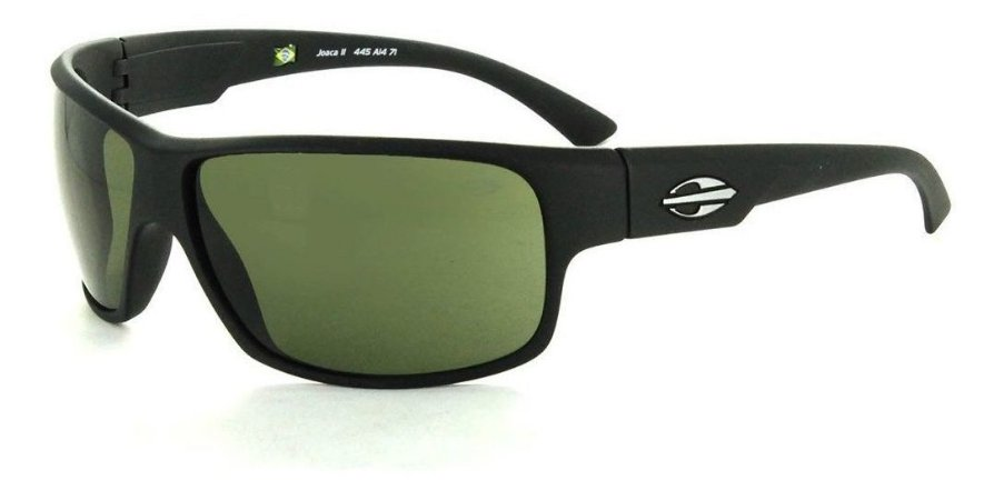 Óculos De Sol Mormaii Joaca 2 Masculino Preto Lente Verde