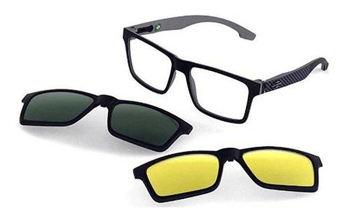 Óculos Armação Mormaii Swap Ng Duo M6098aga56 Preto Clip-on