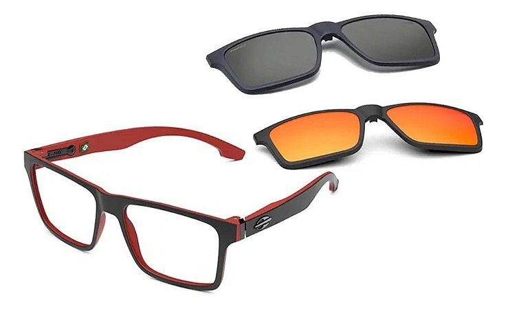 Óculos Armação Mormaii Swap Ng Duo M6098aa956 Preto Clip-on