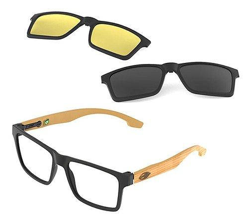 Óculos Armação Mormaii Swap Ng Duo M6098afl56 Preto Clip-on