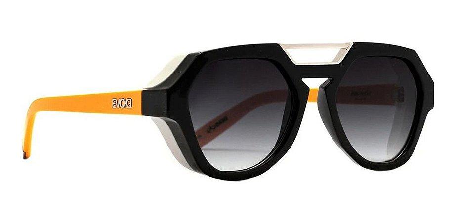 Óculos De Sol Evoke Avalanche Unissex Preto Lente Degrade